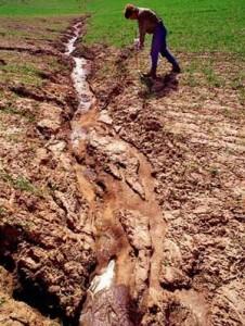 Оросительный канал в почве