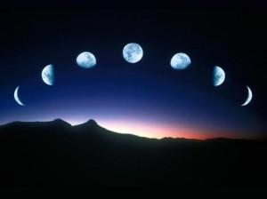 Фазы луны на одном небе