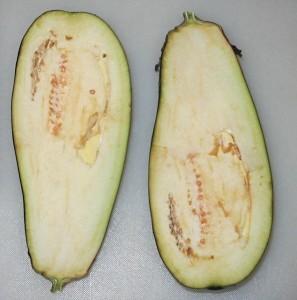 Плод баклажана в разрезе